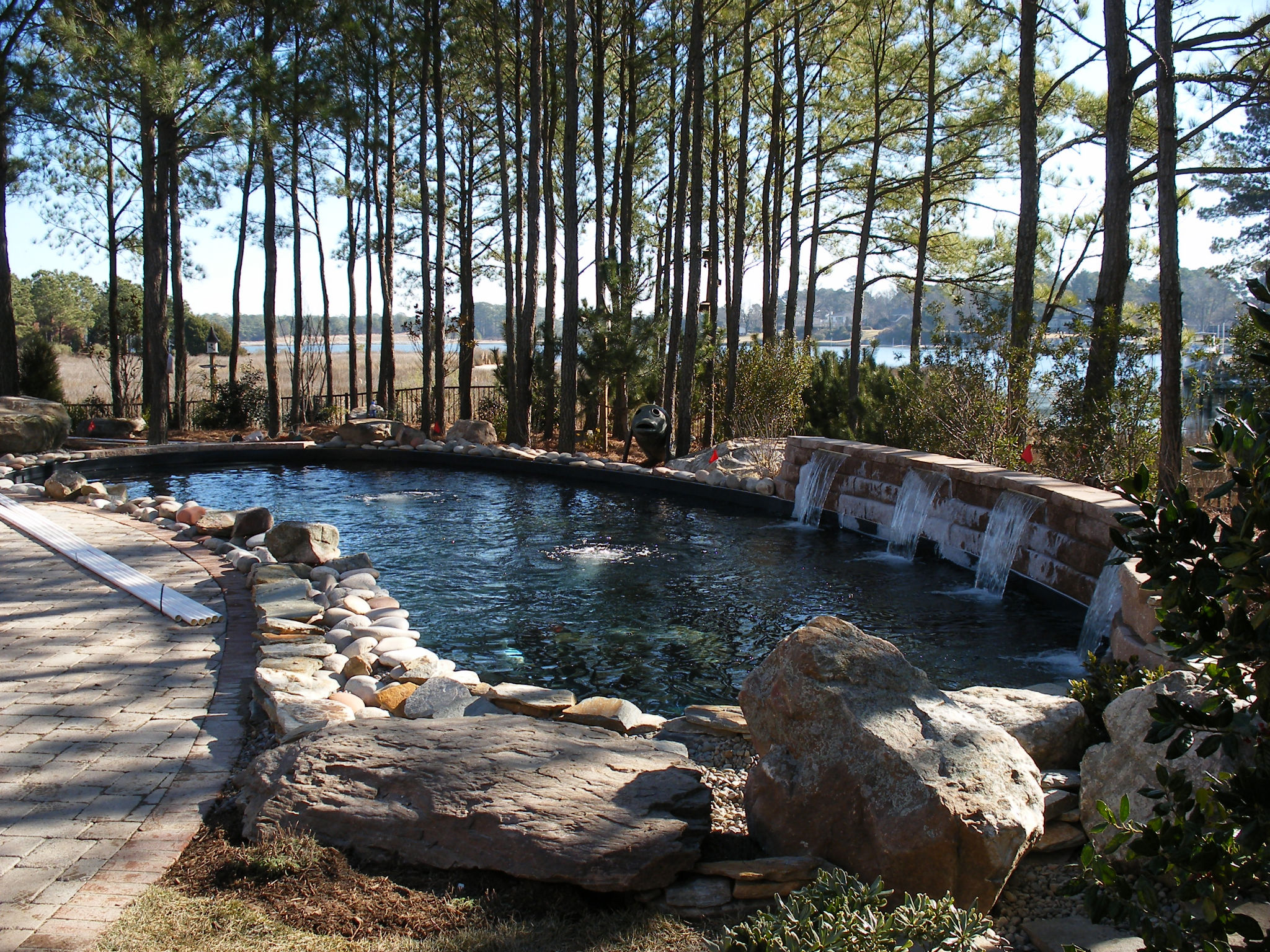 Outdoor living spaces koizilla koi ponds water features for Koi pond pool
